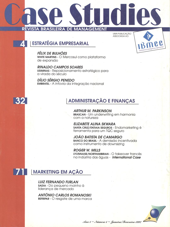 Ano I . Nº 1 . Janeiro/Fevereiro 1997