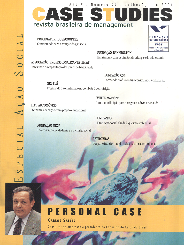 Ano IV . Nº 27 . Julho/Agosto 2001