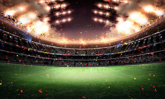 Os fogos do fundão do estádio