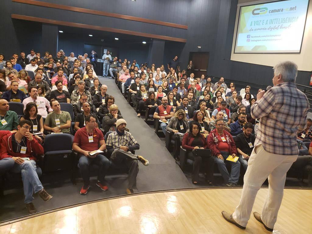 Palestra sobre financiamento ministrada pelo BNDES no Ciclo MPE 2018 de Goiânia
